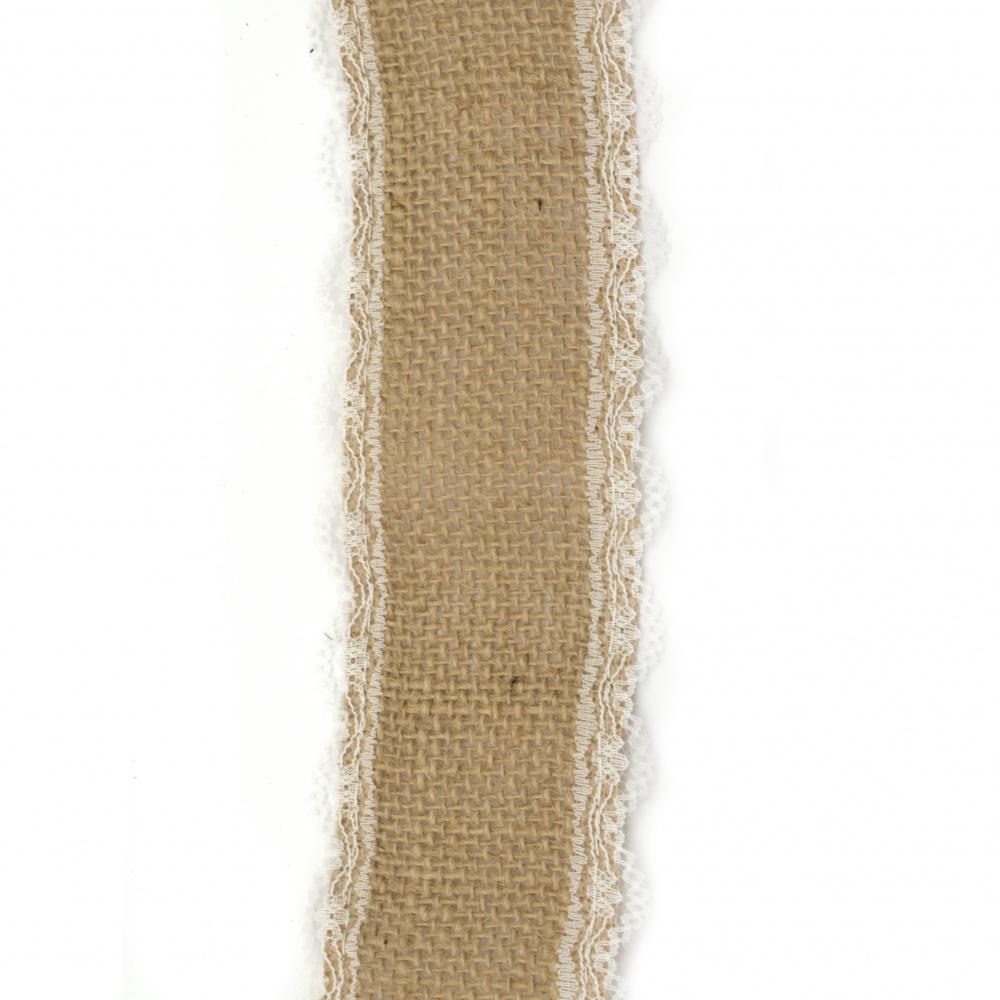 Baza pentru aplicare bandă de sac cu dantelă 5x200 cm
