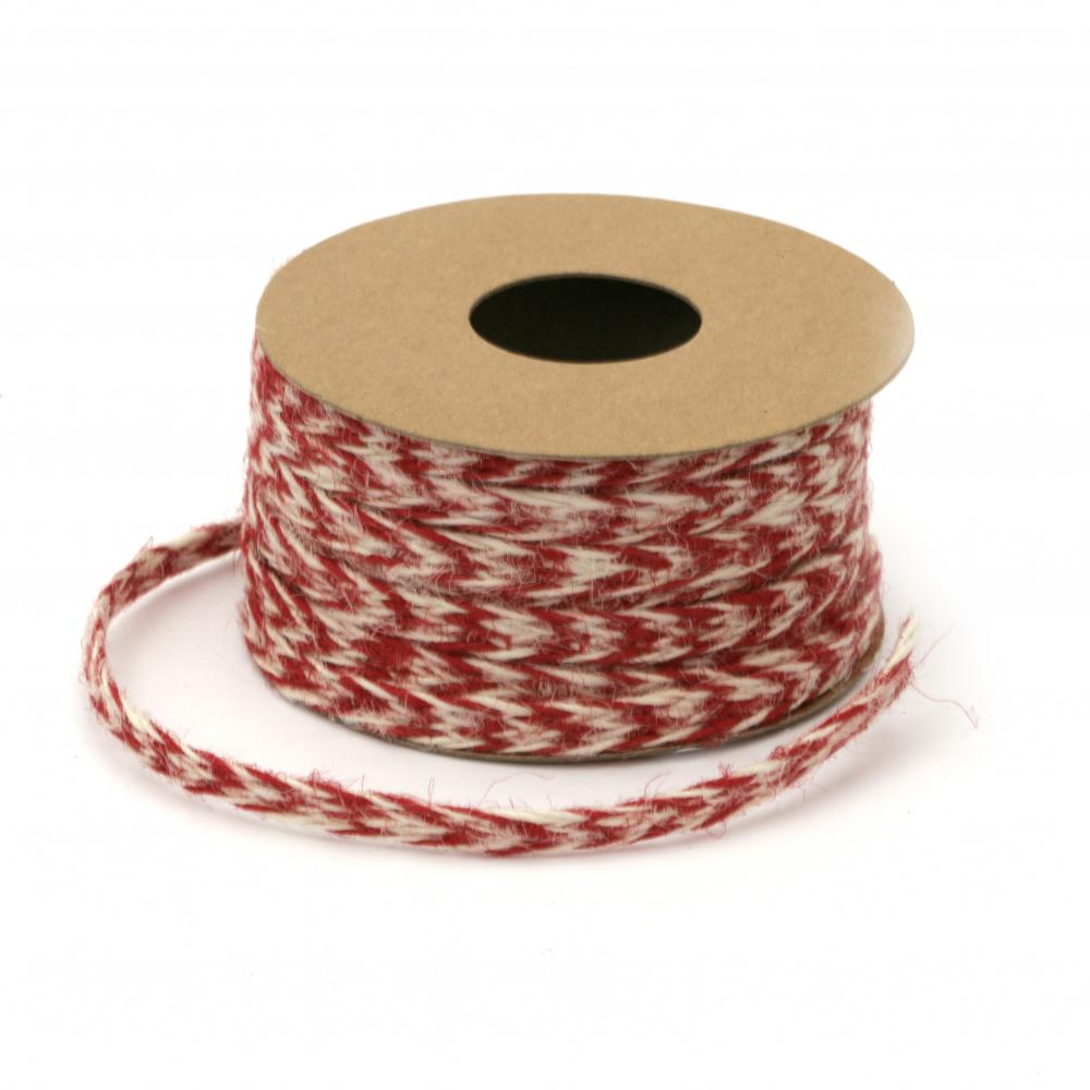 Jute Braid string for decorations, DIY Craft 8 mm assorte colors ~5.2 meters