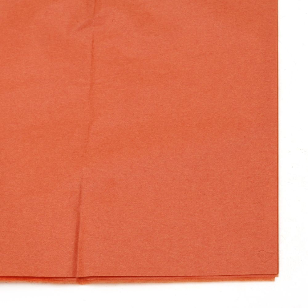 Тишу хартия 50x65 см оранжева -10 листа