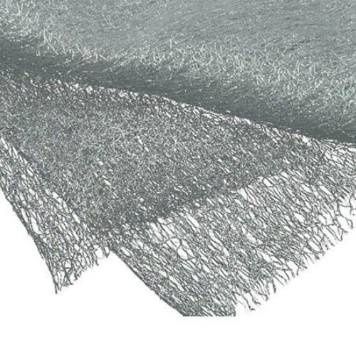Plasa tip păianjen cu fir argintiu 80x170 cm alb