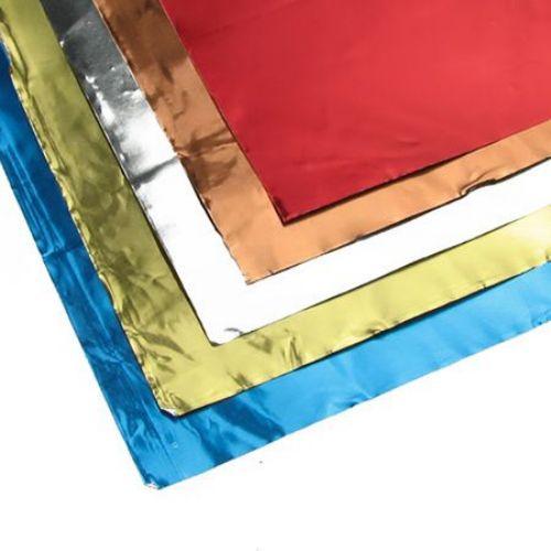Διακοσμητικό σελοφάν αλουμινίου διπλής όψης 18,5 x 29,5 cm 5 χρώματα / 5 φύλλα