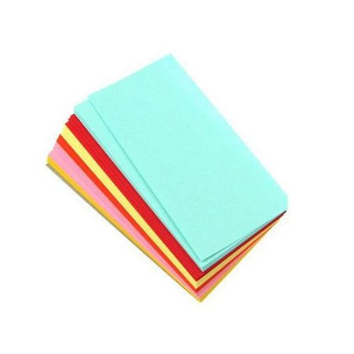 Кубче цветни листи 9x4.50 см 6 цвята за декорация и оригами ~120 броя