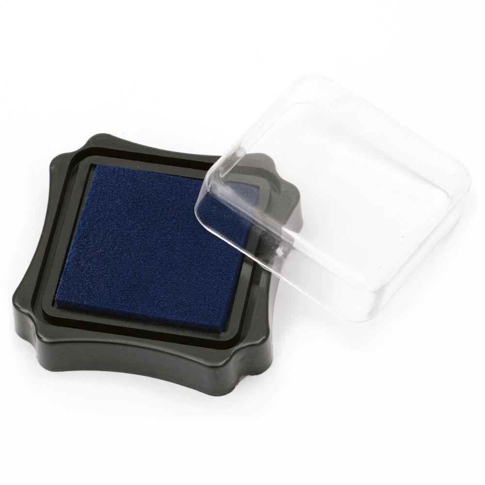 Pigment ink pad 6.2x2.1 cm blue dark color