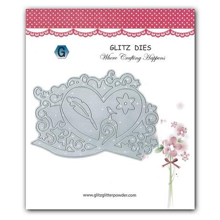Μεταλλική μήτρα Die Cutting 14.1x9.5 cm -Καρδιά με λουλούδι