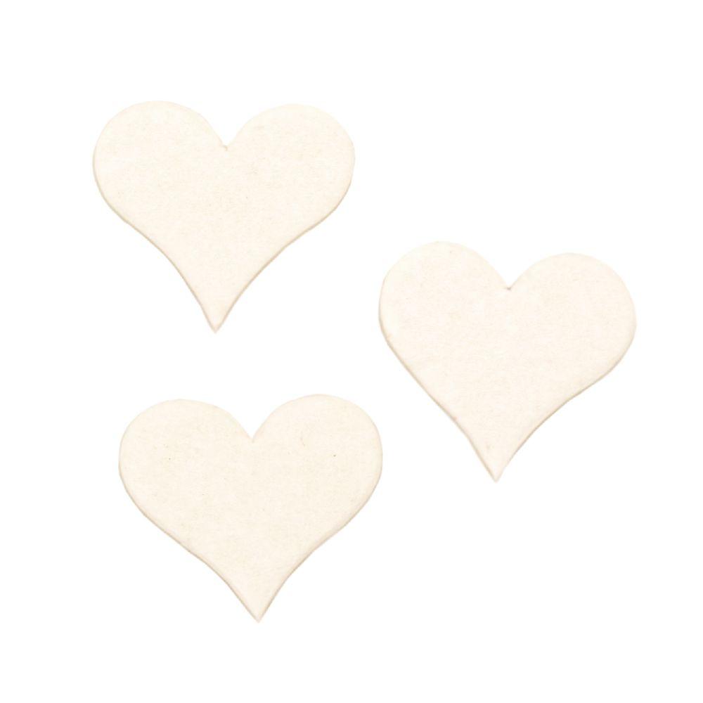Καρδιά από χαρτόνι Chipboard 20x17x1 mm -10 τεμάχια