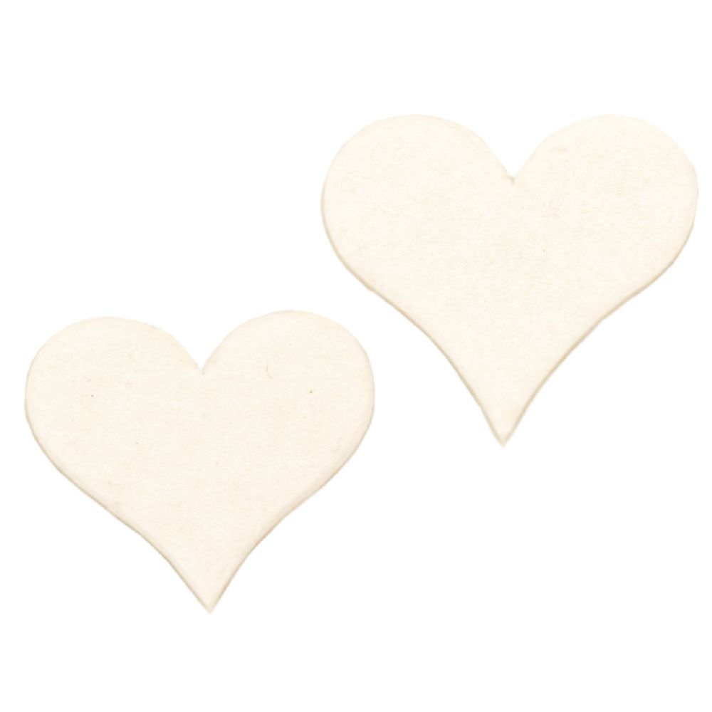 Chipboard element - heart 35x30x1 mm - 5 pieces
