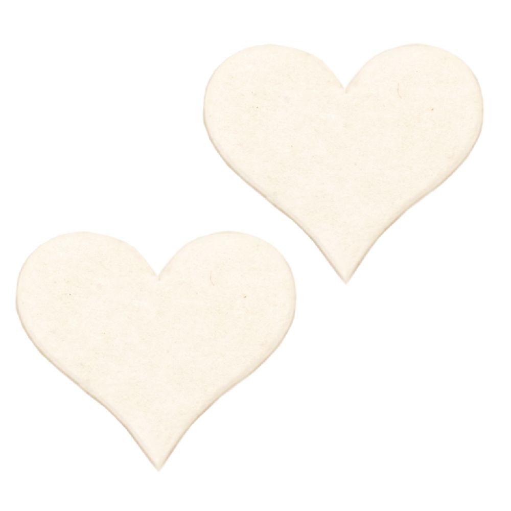 Καρδιά από χαρτόνι Chipboard 60x55x1 mm -2 τεμάχια