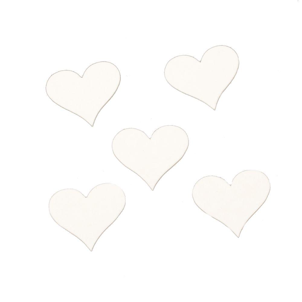 Καρδιά χαρτόνι Chipboard 35x30x1 mm -10 τεμάχια