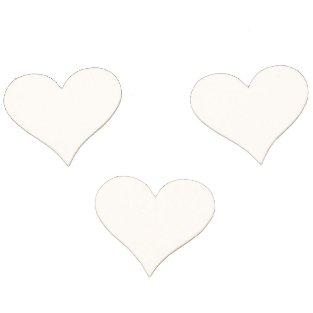 Καρδιά χαρτόνι Chipboard 60x55x1 mm -5 τεμάχια