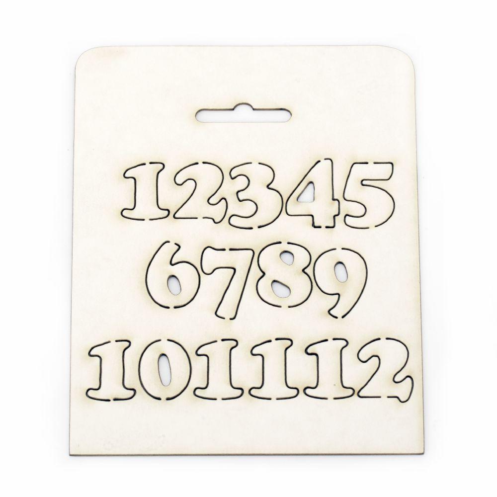 Cifre set 1 la 12 din carton de bere de 15 mm