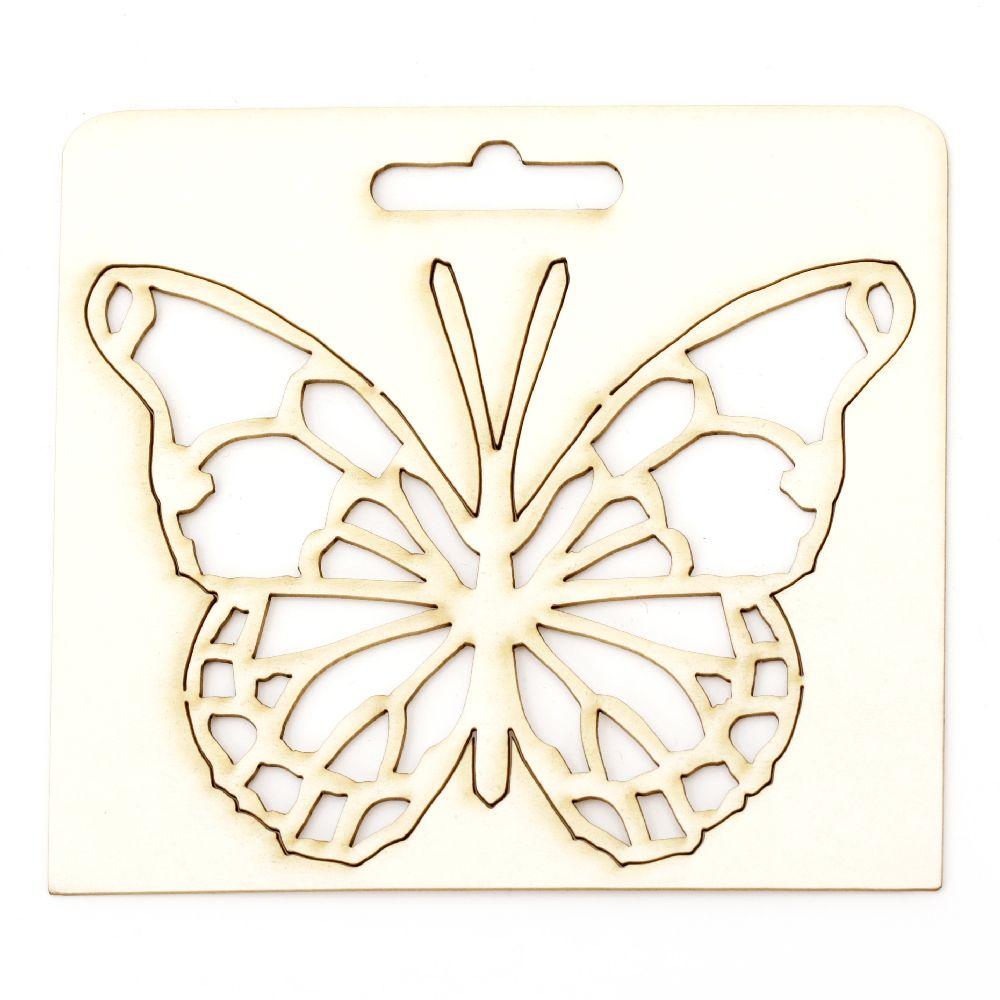 Πεταλούδα από χαρτόνι chipboard 90x115x1 mm