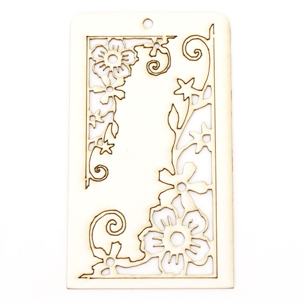 Set of elements of chipboard ornaments with flowers