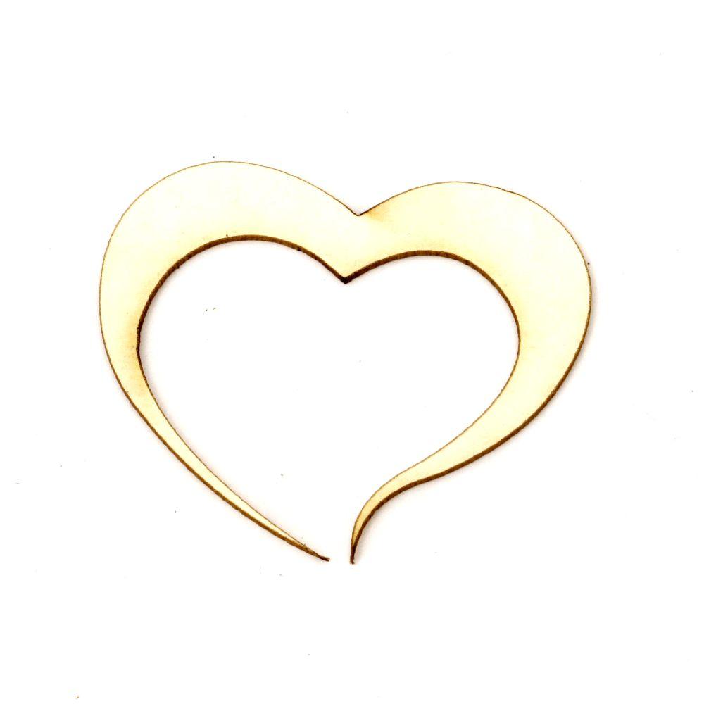 Inima din carton de bere 40x50x1 mm -2 buc