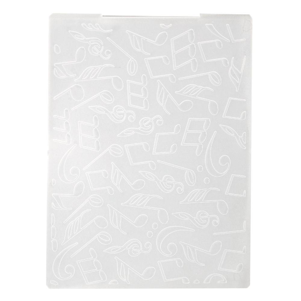 Μήτρα embossing folder 10,5x14,5 cm - νότες