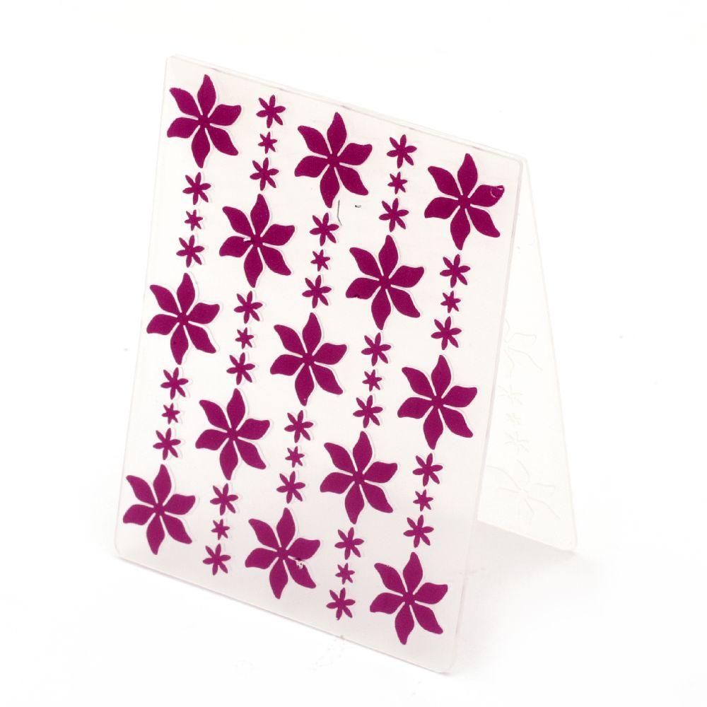 Embossing folder 7.5x10 cm - flowers