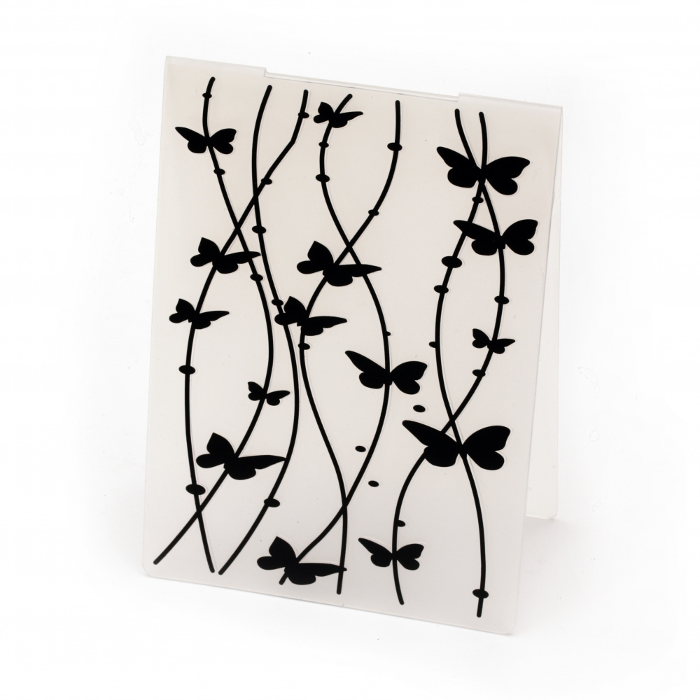Embossing folder 4.8x10.5 cm - butterflies