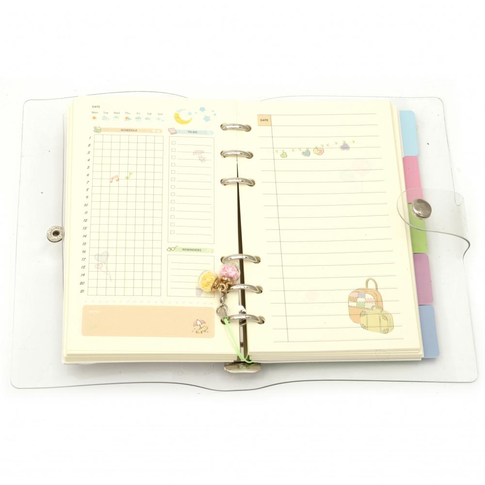 Σημειωματάριο σπιράλ με μαλακό κάλυμμα σιλικόνης 10,5x18 cm 160 φύλλα