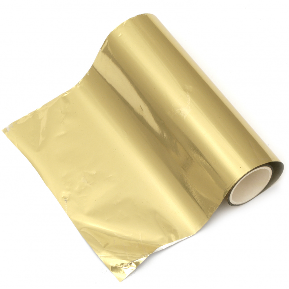 Hot Foil σελοφάν 125 mm χρυσό ματ -5 μέτρα