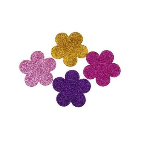 Flori brocart din spumă  / material EVA / 57x2 mm amestec de culori -4 bucăți