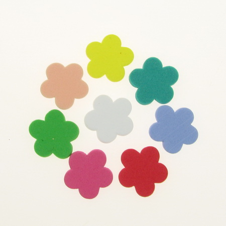 Foam Flowers for Embellishment, Mix Colors /EVA foam material/ 19x2mm - 20 pcs.