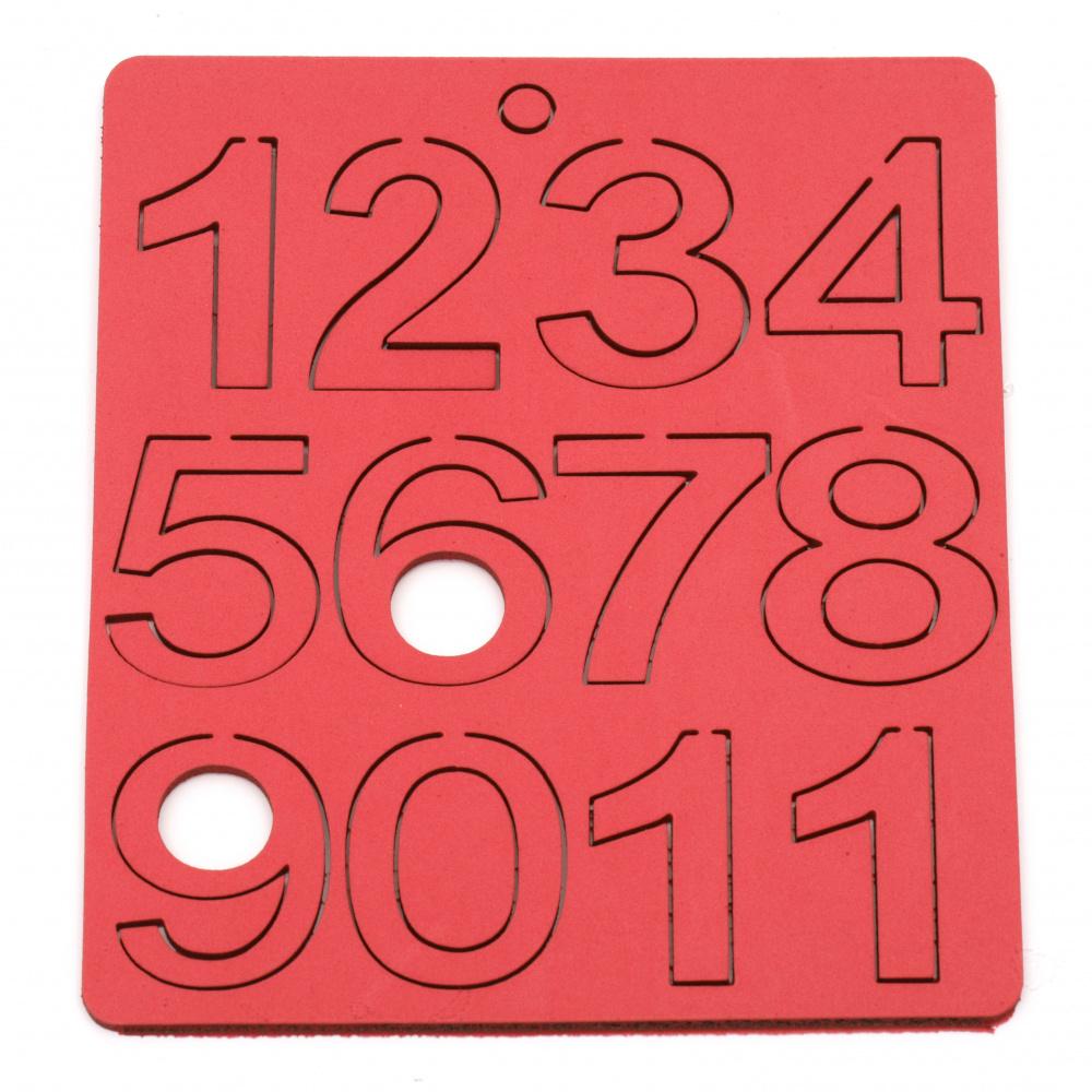 Αριθμοί 43x20 ~ 34x3 mm ΜΙΞ - 1 έως 10