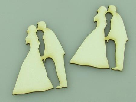 Tinerii casatoriți din carton de bere 50x35x1 mm -2 buc