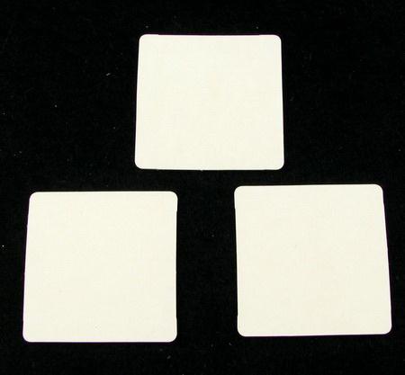 Etichetă pentru  felicitare din carton bere 42x42 mm -6 bucăți