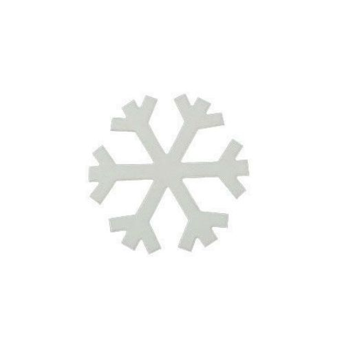MDF Wooden decoration element snowflake 71 x 1 mm - 5 pieces