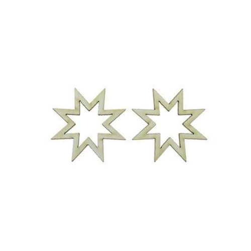 Αστέρι χαρτόνι Chipboard 50x1 mm -2 τεμάχια