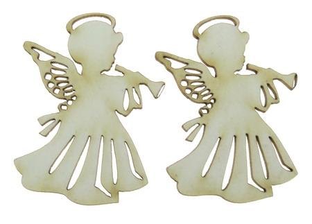 Înger din carton de bere 50x37x1 mm -2 buc