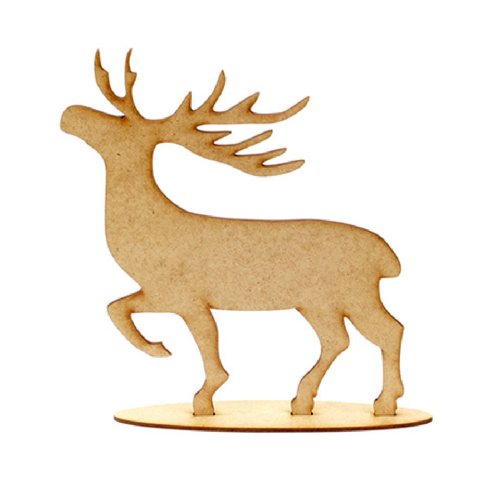 MDF Wooden Element for deer decoration of 2 parts 205x160x3 mm