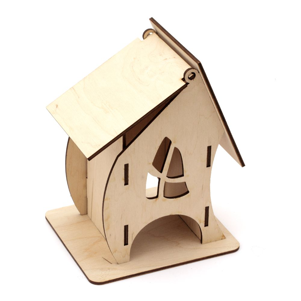 Wooden tea house 7x8x16 cm
