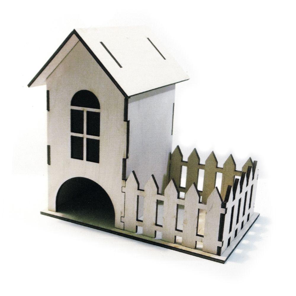 Casa de ceai din lemn 8x9x18 cm