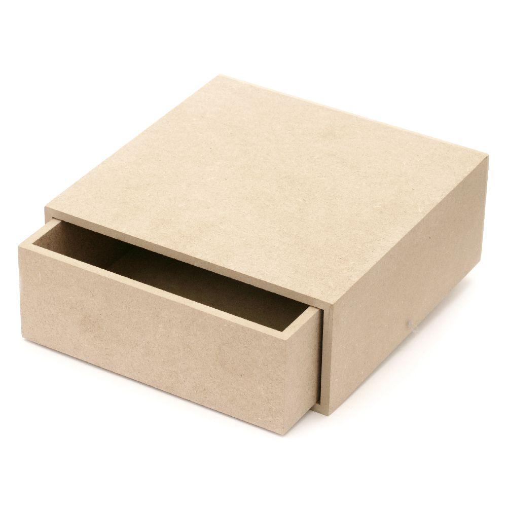 MDF Wooden Box for Decoration, 20x20x8cm