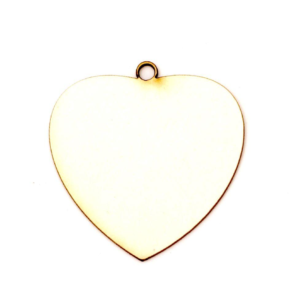 Καρδιά χαρτόνι Chipboard 50x48x1 mm -2 τεμάχια