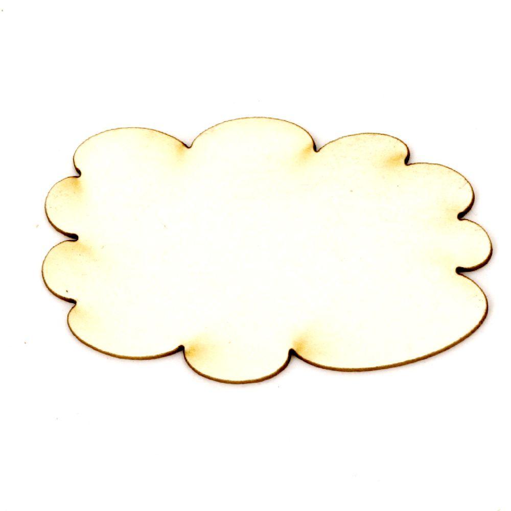 Σύννεφο χαρτόνι Chipboard 30x45x1 mm -2 τεμάχια