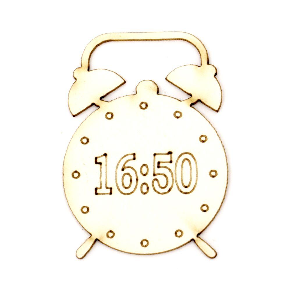 Ρολόι/ Ξυπνητήρι χαρτόνι Chipboard 50x35x1 mm -2 τεμάχια