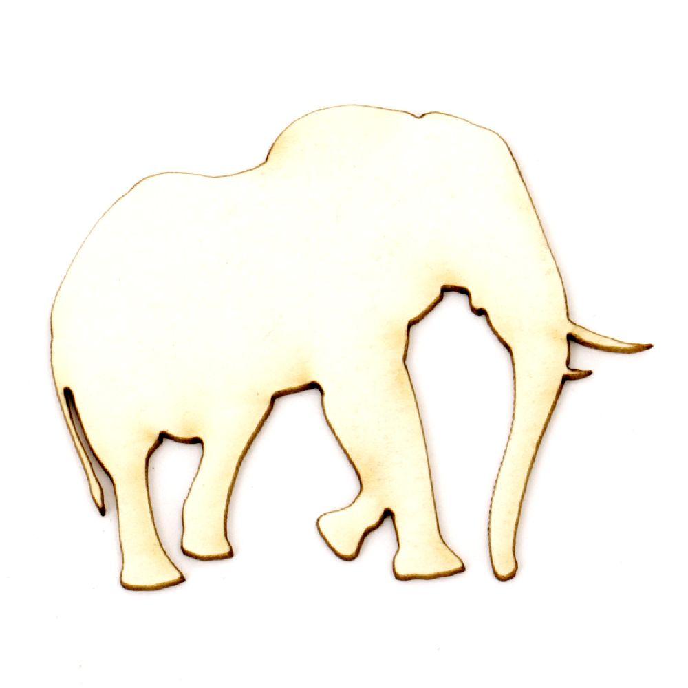 Ελέφαντας χαρτόνι Chipboard 40x50x1 mm -2 τεμάχια