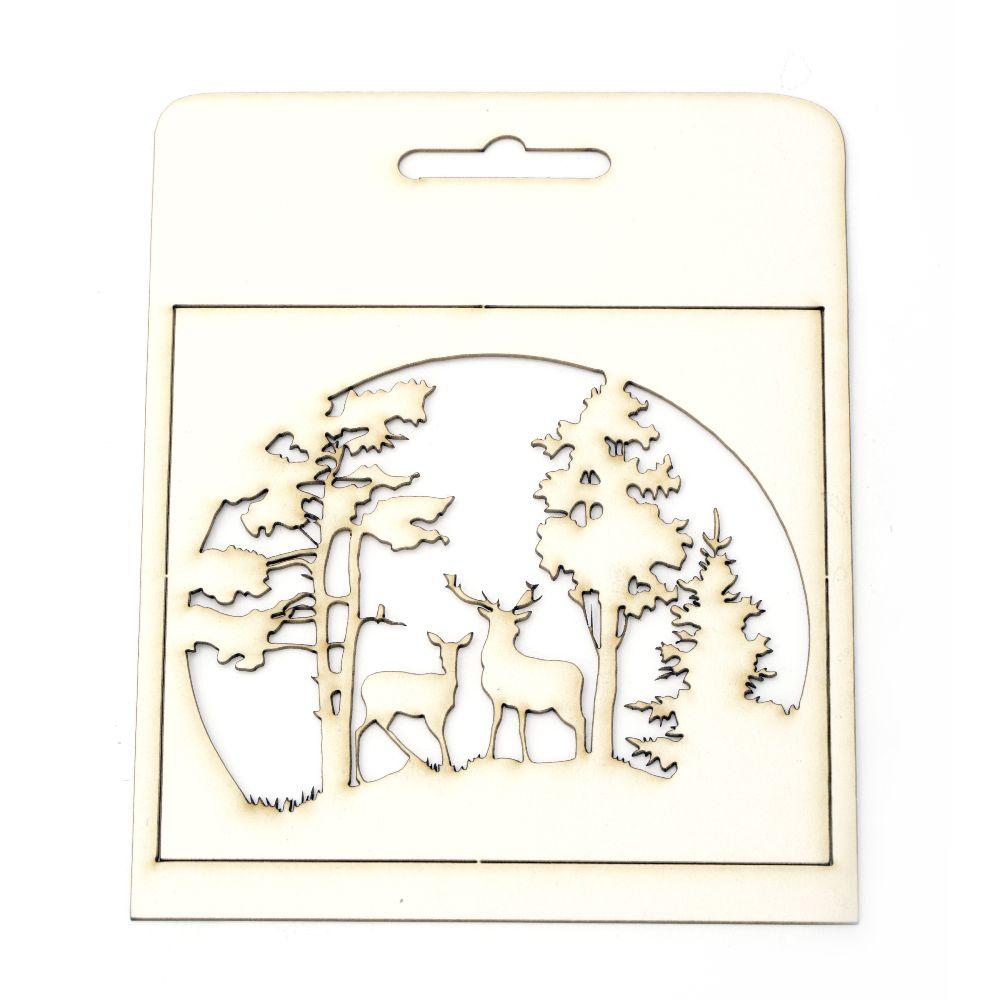 Σετ τοπίο δάσους χαρτόνι Chipboard 135x140 mm