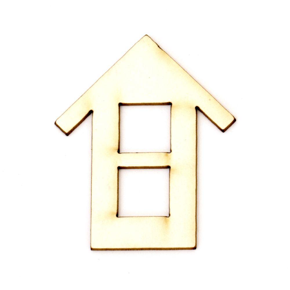 Σπίτι χαρτόνι Chipboard 50x40x1 mm -2 τεμάχια