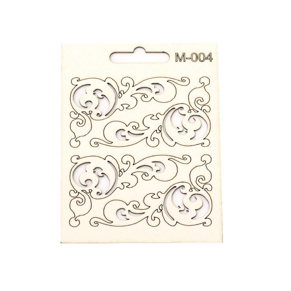 Σετ διακοσμητικά στοιχεία χαρτόνι Chipboard M-004