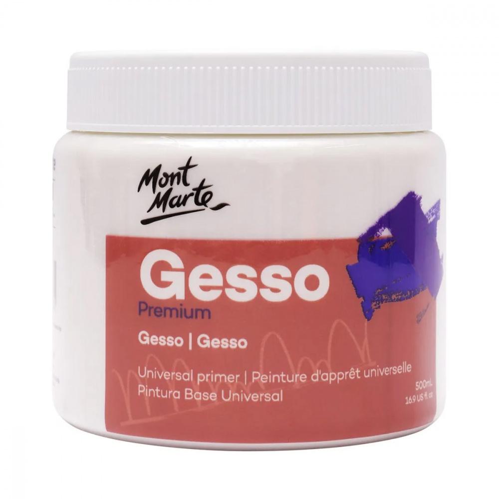 Гесо грунд Mont Marte универсален бял -500 мл.