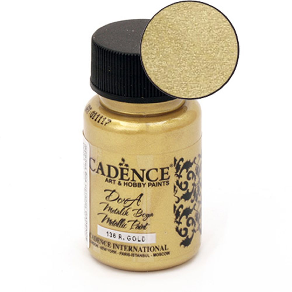 CADENCE DORA Ακρυλικό μεταλλικό χρώμα 50 ml. - RICH GOLD 136