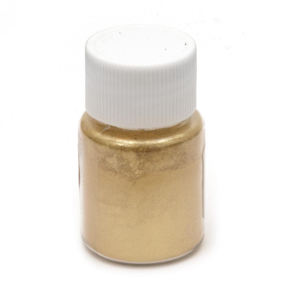 Оцветител за смола перлен пудра 25 мл в бурканче- злато