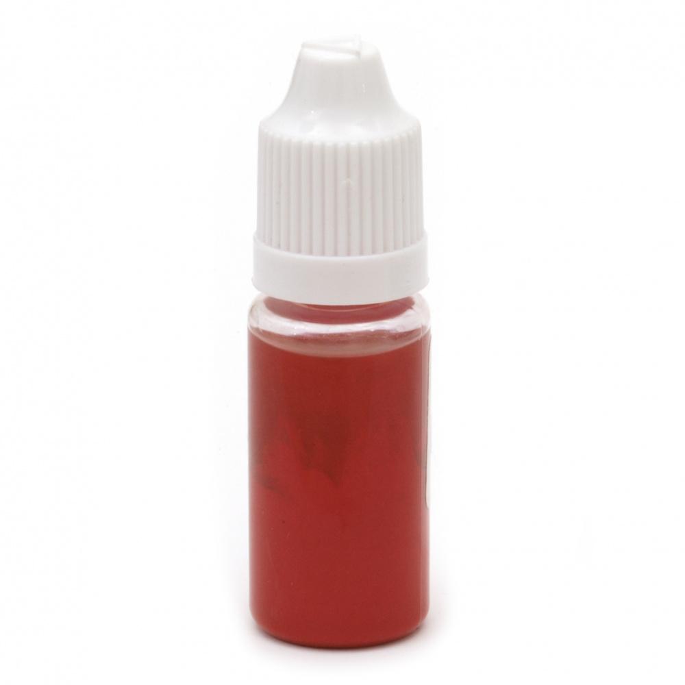 Оцветител за смола плътен 10 мл - червен