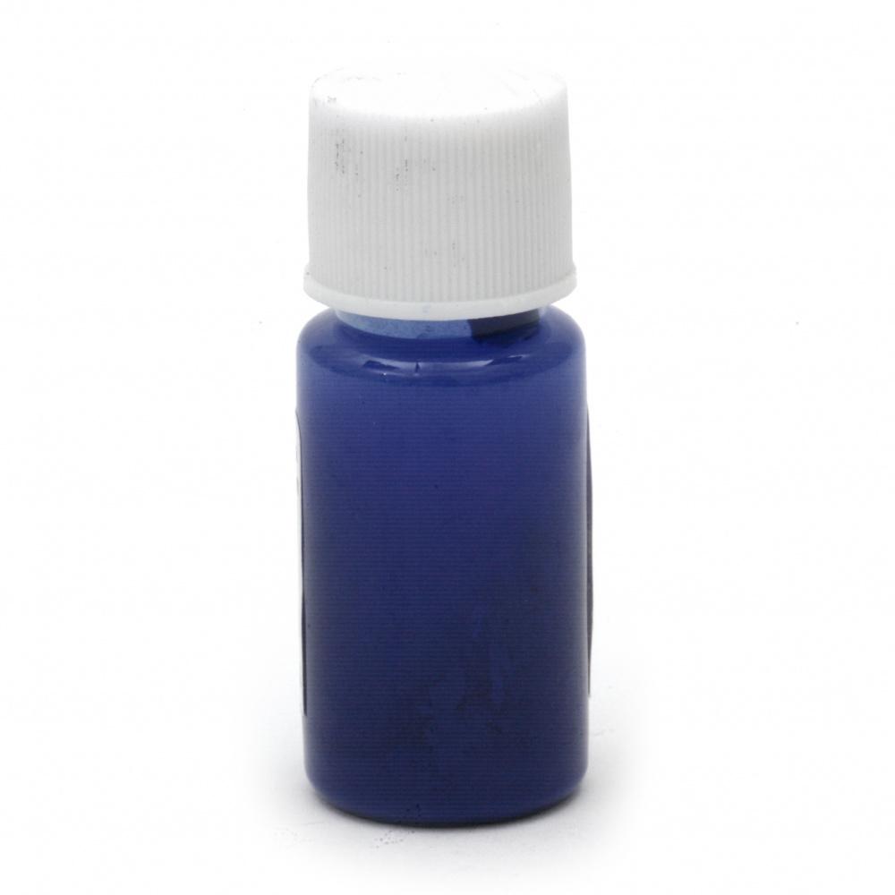 Оцветител (пигмент) за смола за заскрежен ефект на алкохолна основа цвят ултрамарин -10 мл