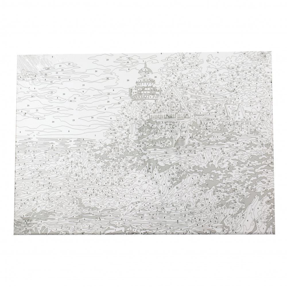 Комплект рисуване по номера 40x50 см -Морски фар Ms8269