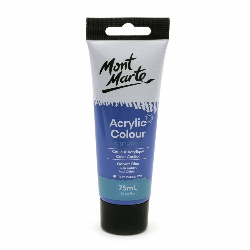 Акрилна боя полумат Mont Marte Studio Acrylic Paint 75мл - Cobalt Blue