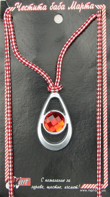 Гердан пластмаса с кристал