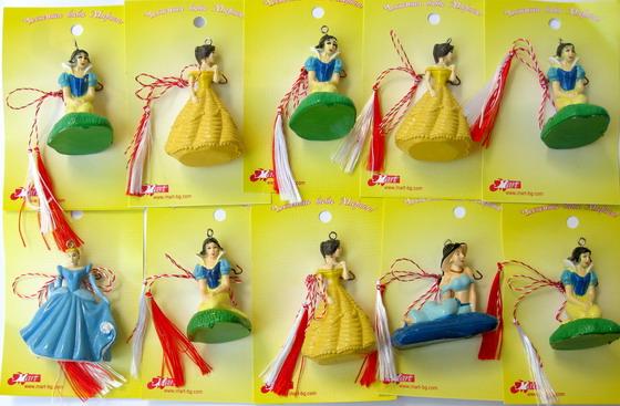 Figurine Martisor păpuși 10 bucăți